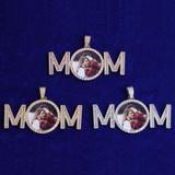 Flooded Ice MOM Hip Hop Custom Photo Medallion Pendant Chain Necklace