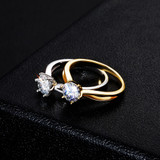 Ladies White Gold 1ct D Color VVS1 Moissanite Classic Cut High Style Bling Rings