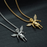 14k Gold Angel Cherub Chain