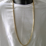 Box Chain Bling Necklace