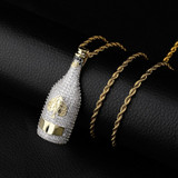 Adorn Yourself With An Adorable Champagne Bottle That Sparkles On The Outside