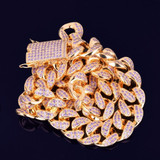 Stay Fresh Regardless with Bling Jewelz 24k Gold Cuban Link  Flooded Ice Chains
