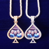Turn Your Person Into An Album. Wear The Beautiful Photo Medallion Pendant Encrusted With Glittering AAA Pave Stones!