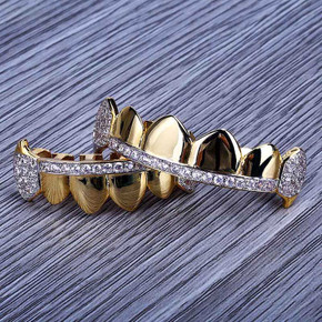 Iced Out Micro Pave Fang Mouth Grillz