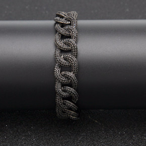 Hip Hop AAA True Micro Paved Bling Iced Out Miami Cuban Link Bracelet