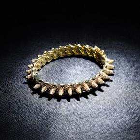 New Spikes Rivets Street Rock Luxury AAA Micro Pave Hip Hop Bracelets