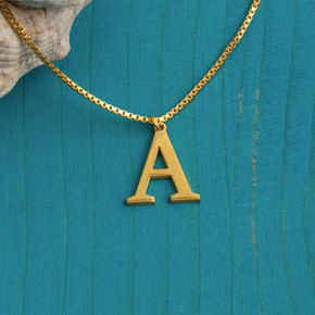 14k Rose Gold Gold Silver A-Z Alphabet Initial Letters Bling Stainless Steel Chain Necklaces