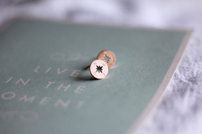 North South East West Boho Fashion Compass Stud Stainless Steel Fashion Earrings