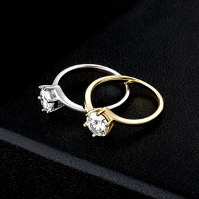 Ladies 1ct D Color VVS1 Moissanite Diamond .925 Sterling Silver Bling Bling Rings