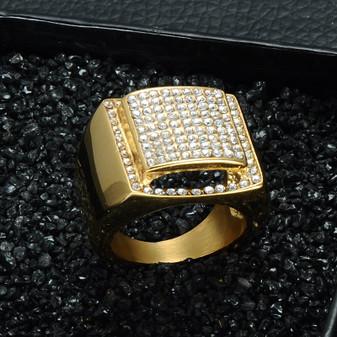 Mens Rings, Hip Hop Rings, Genuine Diamond Mens Rings