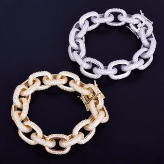 20218732cf31f 14k Gold Box Clasp Lab Diamond Fox Franco Link Stainless Steel ...