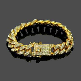 14k Gold 13mm Hip Hop Classic Big Boy Cuban Link Bracelet