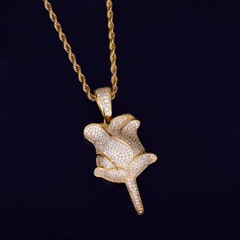 18k Gold Silver Rose Flower Petal Chain