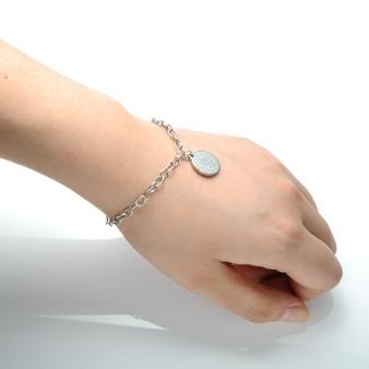 Ladies Christian Jesus Stainless Steel No Fade Religous Spiritual Bracelet
