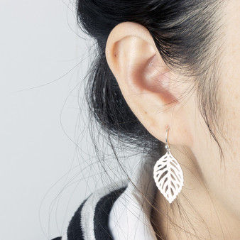 Boho Stainless Steel 14k Gold Silver Fashion Tree Of Life Leaf Earrings