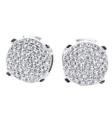 10MM Simulated Diamond Hip Hop Earrings