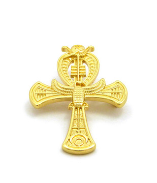 Ankh Cross 14k Gold Ancient Egyptian African Brooch Pin