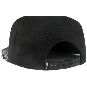 Black Paisley Snapback Hat