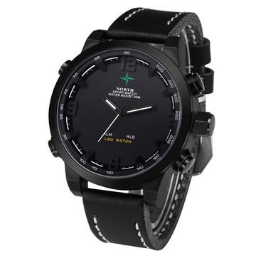 Casual Hip Hop Wrist Watch Black
