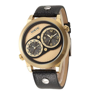 Gold Leather Luxury Watch
