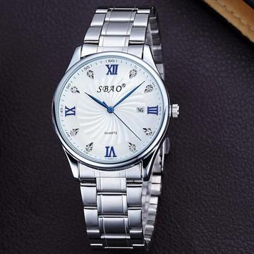 Stainless Steel Fashion Men's  High Class Analog Wrist Watch