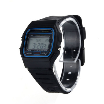 80's Retro Fashion Vintage Digital Wristwatch Black