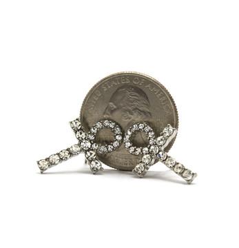 .925 Silver SP African Ankh Diamond Cz Earrings