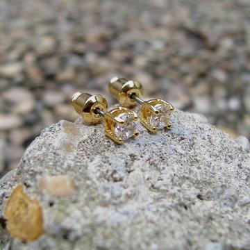 14k Gold 4mm Earrings