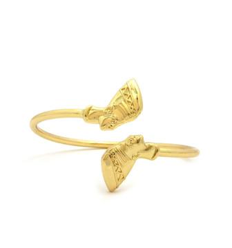 14k Gold Nefertiti Bangle Bracelet