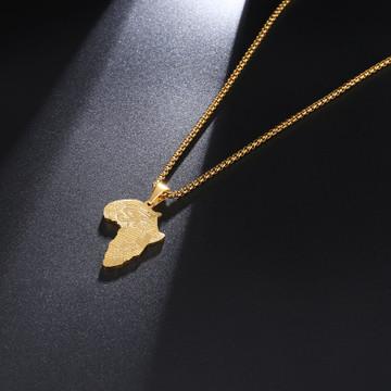 Stainless Steel 14k Gold Mother Africa Eye Of Horus 14k Gold Egyptian Pendant