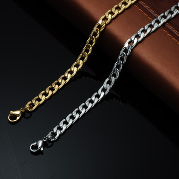 Hip Hop 24 Inch 6mm Stainless Steel Designer Cuban Link Chain Necklace