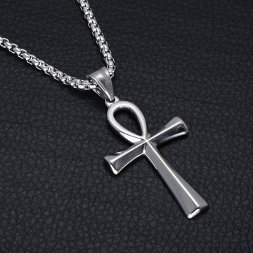 Ancient African Egyptian Ankh Cross Stainless Steel Titanium Pendant