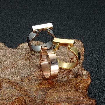 Ladies Silver/Gold/Rose Gold Flat Bar Knuckle Midi Ring