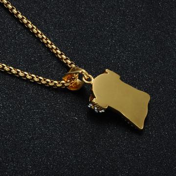 Mens 14k Gold  Titanium Stainless Steel Lab Diamond Bling Jesus Piece Pendant