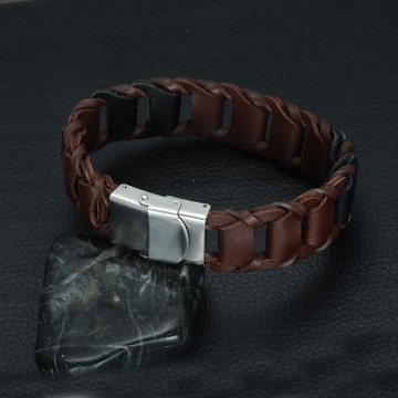Genuine Leather Braid Bracelet