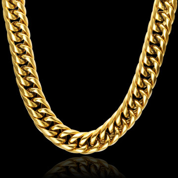 Double Curb Cuban Link Chain Necklace