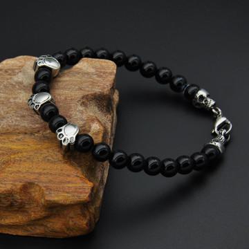 Black Onyx Loose Stone Bracelet