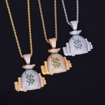 Money Bag hip hop pendant