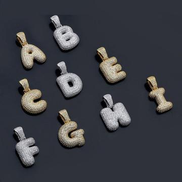 Bubble Letters Initials Hip Hop Chain