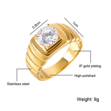 Hip Hop Bling Iced Out Lab Diamond 14k Gold Titanium Stainless Steel Ring
