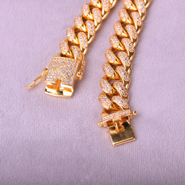 iced out chain bracelet