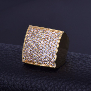 18k Gold Big Boy Squared Flooded Ice Rings