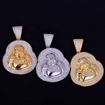 Iced Out Buddha Pendant Chain