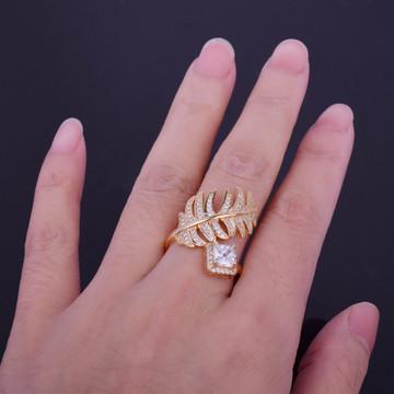 Princess Cut Leaf Ring