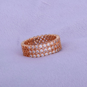 Lab Diamond 3 Layer 14k Gold Silver Round Luxury Iced Out Ring