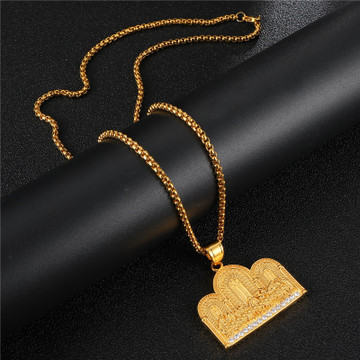 The Last Supper 14k Gold Titanium Stainless Steel Micro Pave Hip Hop Pendant