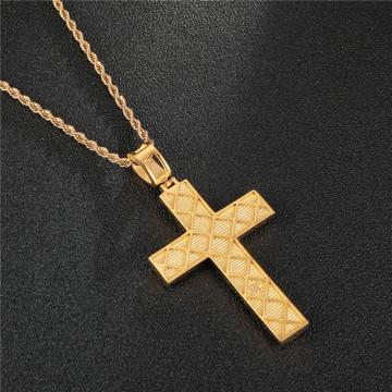 Stainless Steel Micro Pave Lab Diamond Cross