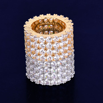 Exclusive Four Row Original AAA True Micro Pave Solitaire Rings