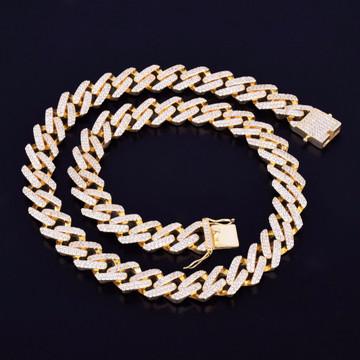 14k Gold Cuban Link Choker Necklace