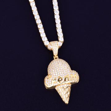 14k Gold Iced Cream Cone Chain